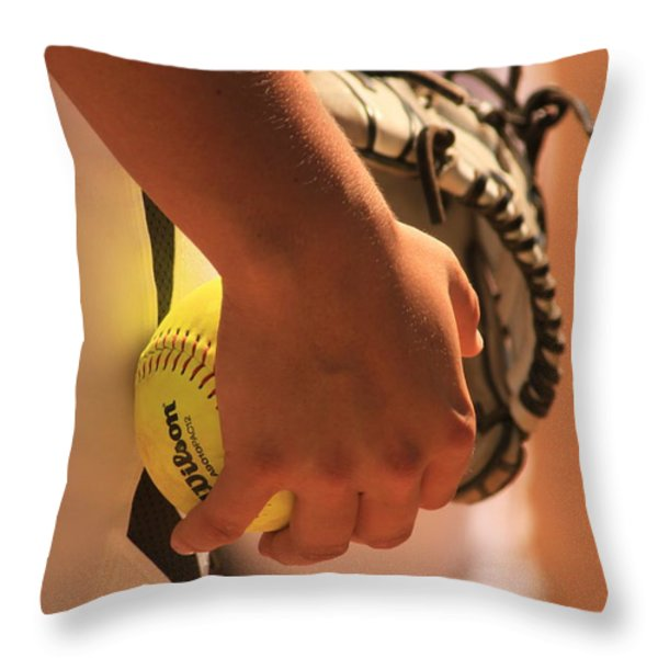 A Game of Nuance Throw Pillow by Laddie Halupa