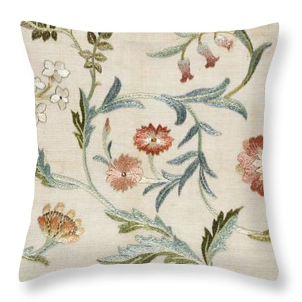 A Garden Piece Throw Pillow by May Morris