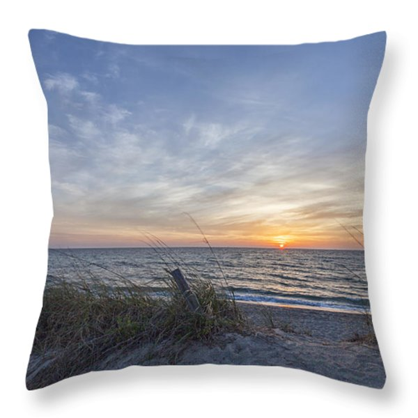A Glass Of Sunrise Throw Pillow by Jon Glaser