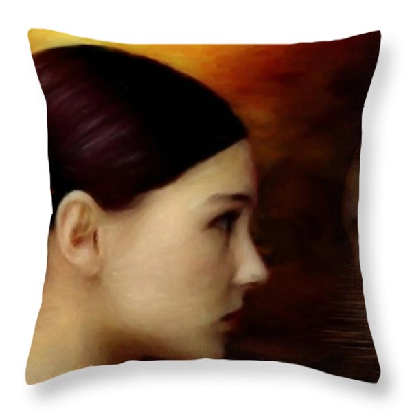 A Glimpse Inside Throw Pillow by Gun Legler