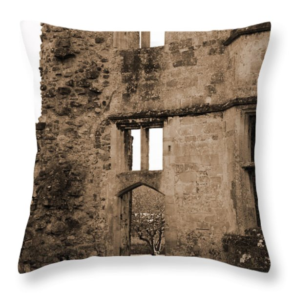A Glimpse Of Titchfield Abbey Orchard Throw Pillow by Terri Waters