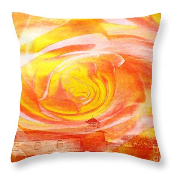 A Glorious God Throw Pillow by PainterArtist FIN