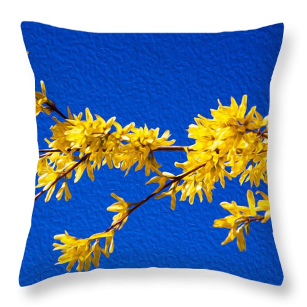 A Golden Afternoon Throw Pillow by Omaste Witkowski