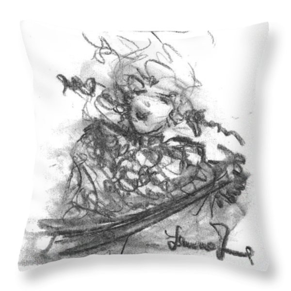 A Great Musician Throw Pillow by Laurie D Lundquist
