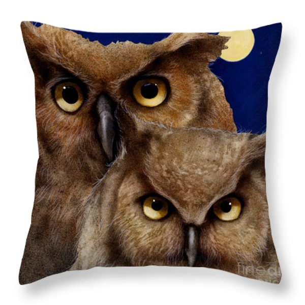 A great pair of hooters... Throw Pillow by Will Bullas