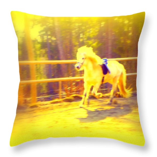 A Horse For A Princess Throw Pillow by Hilde Widerberg
