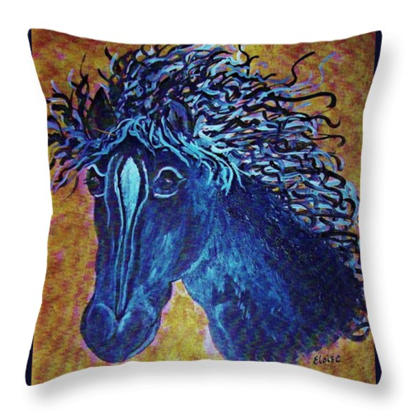 A Horse Named Whimsy Throw Pillow by Eloise Schneider