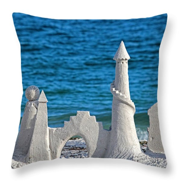 A Kingdom By The Sea Throw Pillow by HH Photography