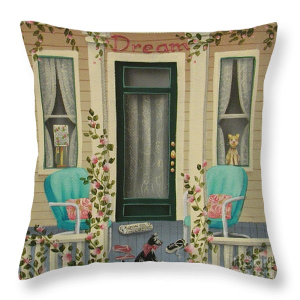 A Lazy Saturday Morning Throw Pillow by Catherine Holman