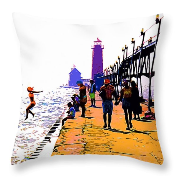 A Leap Of Faith Throw Pillow by CHAZ Daugherty