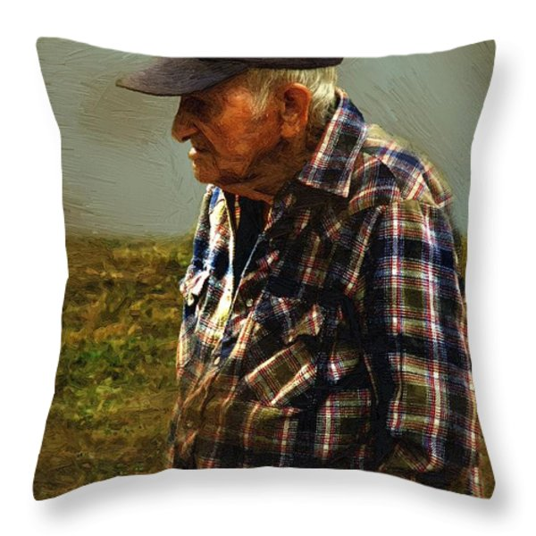 A Lifetime in the Fields Throw Pillow by RC DeWinter