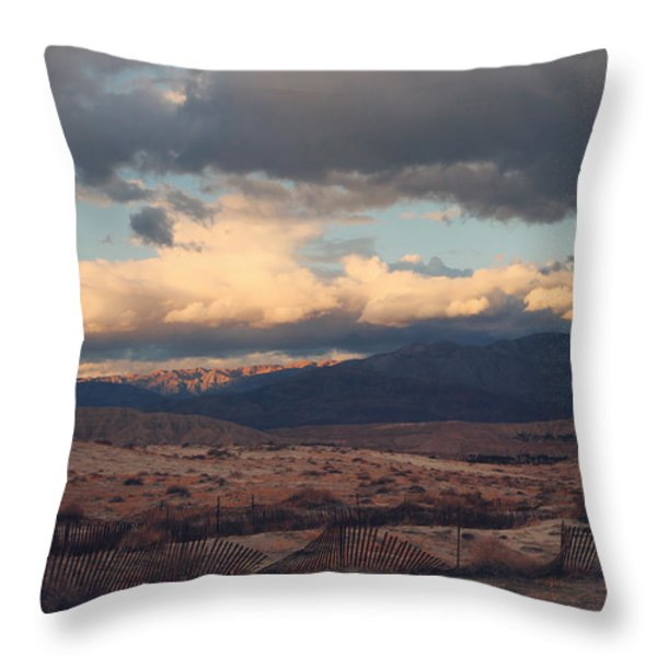 A Light in the Distance Throw Pillow by Laurie Search