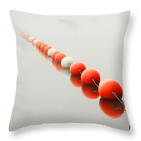 A Line To The Unknown Throw Pillow by Karol Livote