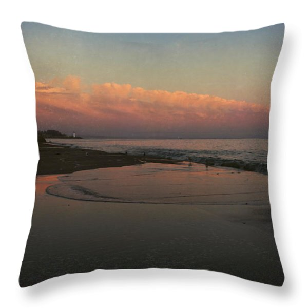 A Little Bit of Peace Throw Pillow by Laurie Search