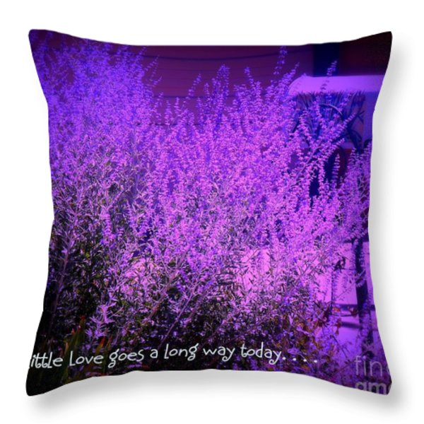 A Little Love Throw Pillow by Bobbee Rickard