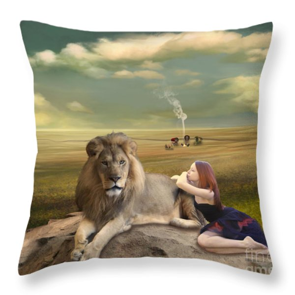 A Magnificent Friendship Throw Pillow by Linda Lees