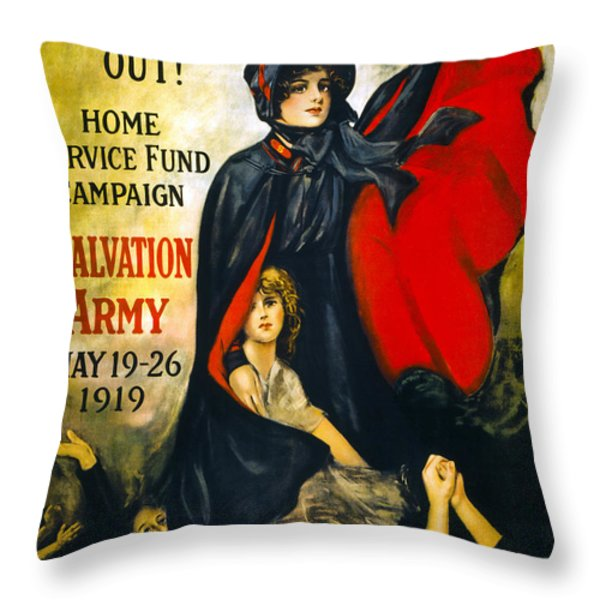 A Man May Be Down . . .   1919 Throw Pillow by Daniel Hagerman