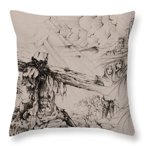 A man of sorrows Throw Pillow by Rachel Christine Nowicki