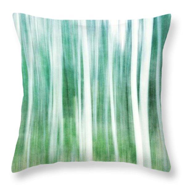 a matter of blues Throw Pillow by Priska Wettstein