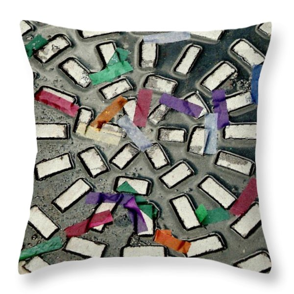 A Maze In Abstract Throw Pillow by Michael Hoard
