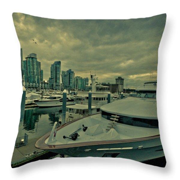 A Million Dollar Ride Yacht  Throw Pillow by Eti Reid