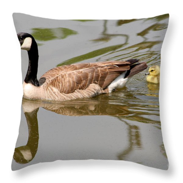 A Mother's Love Throw Pillow by Bob and Jan Shriner