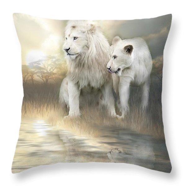 A New Beginning Throw Pillow by Carol Cavalaris