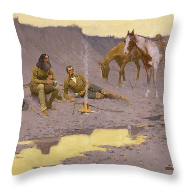 A New Year On The Cimarron Throw Pillow by Fredrick Remington