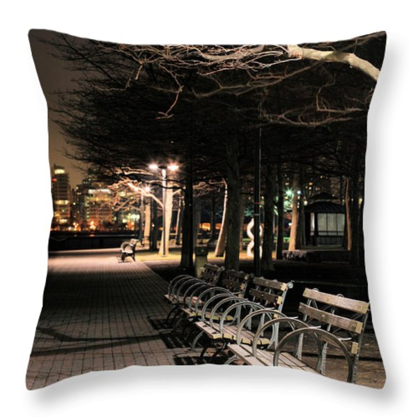 A Night in Hoboken Throw Pillow by JC Findley