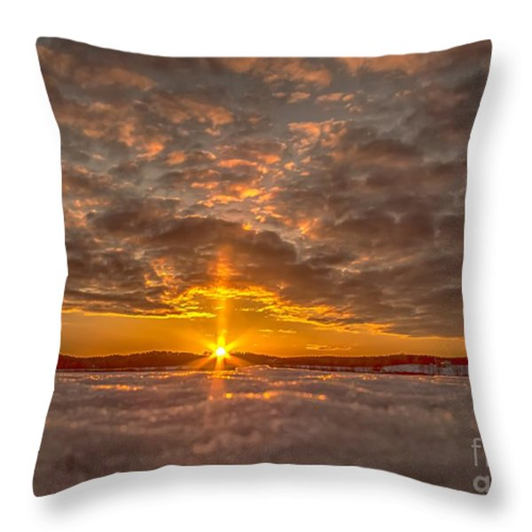 A Norwegian sunset Throw Pillow by Rose-Maries Pictures