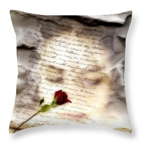 A note and she was gone Throw Pillow by Gun Legler