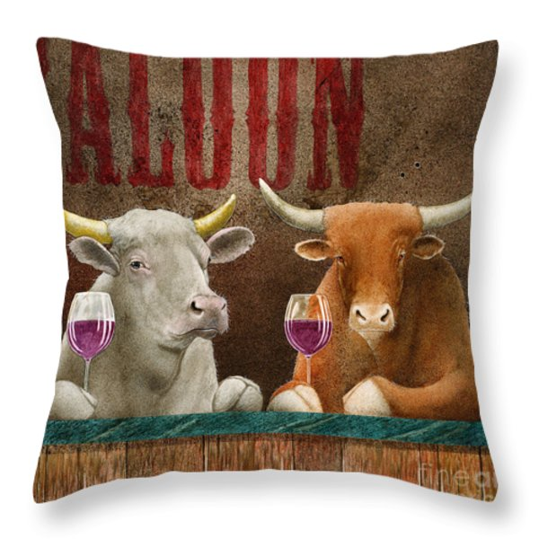A Parable... Throw Pillow by Will Bullas