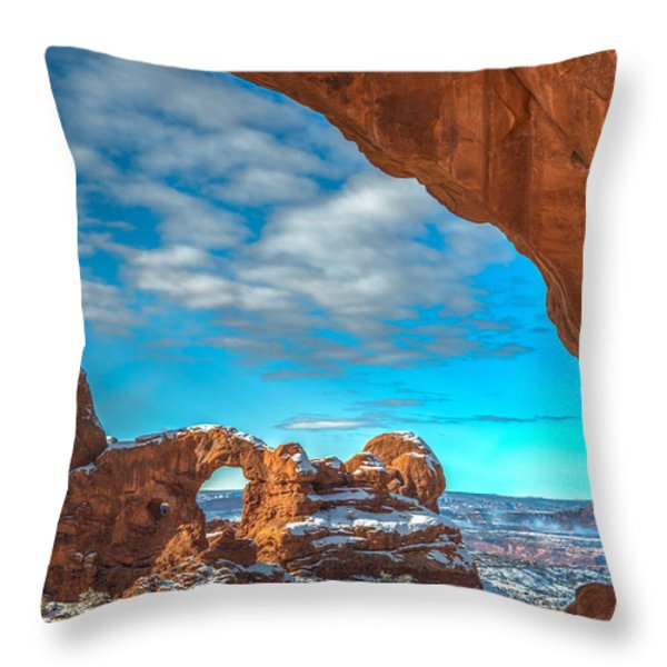A Partial View Throw Pillow by Dustin  LeFevre