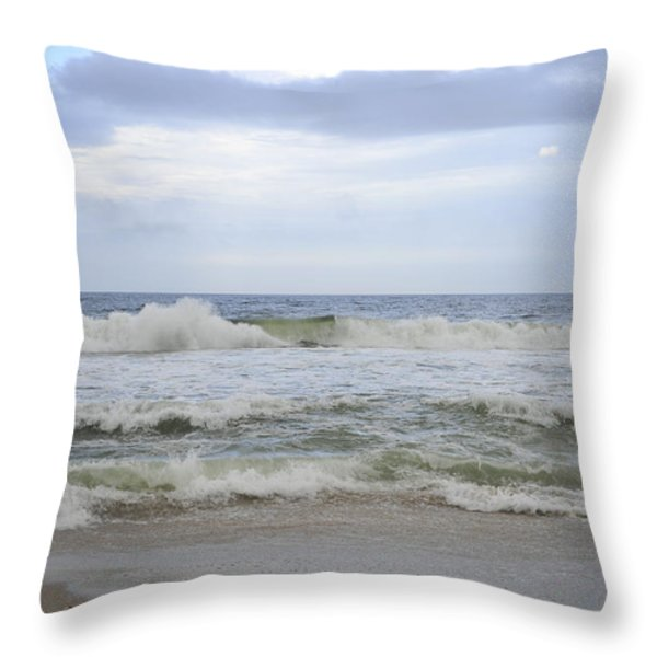 A peek of Blue Throw Pillow by Terry DeLuco