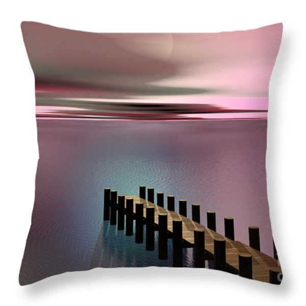 A Perfect Calm Throw Pillow by Barbara Milton