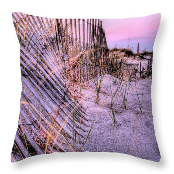 A Pink Sunrise Throw Pillow by JC Findley
