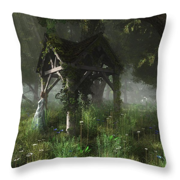 A Place Of Secrets Throw Pillow by Melissa Krauss