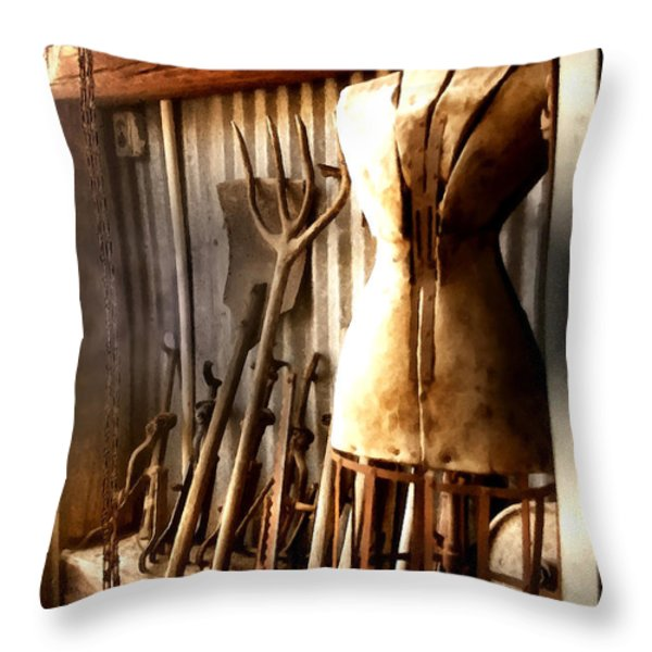 A Place To Be Throw Pillow by Barbara D Richards