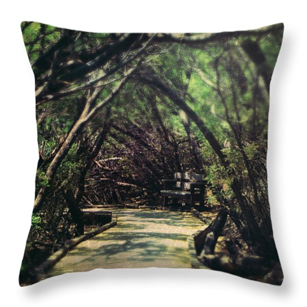 A Place to Hide Away Throw Pillow by Laurie Search
