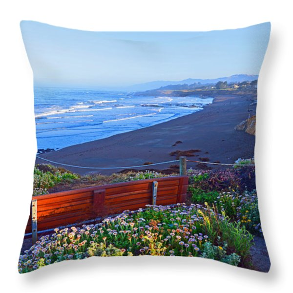 A Place To Reflect Throw Pillow by Lynn Bauer