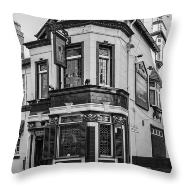 A Pub on Every Corner Throw Pillow by Nomad Art And  Design