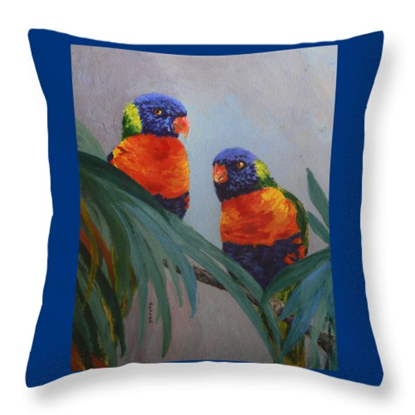 A Quiet Moment Together Throw Pillow by Margaret Saheed