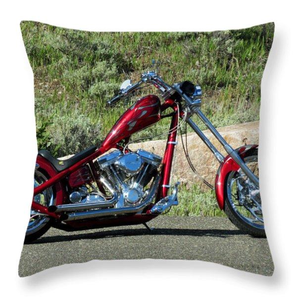 A Red Beauty Throw Pillow by Ausra Paulauskaite