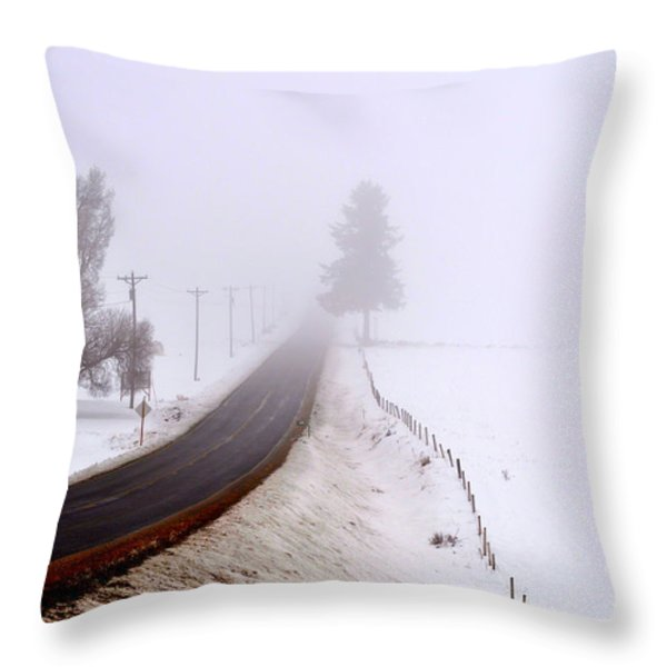 A Road To Nowhere Throw Pillow by Ana Lusi