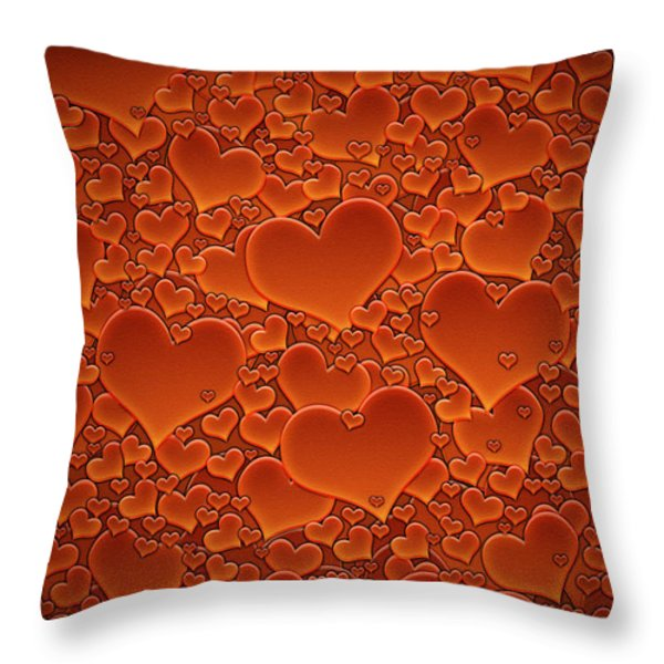 A Sea of Hearts Throw Pillow by Gianfranco Weiss