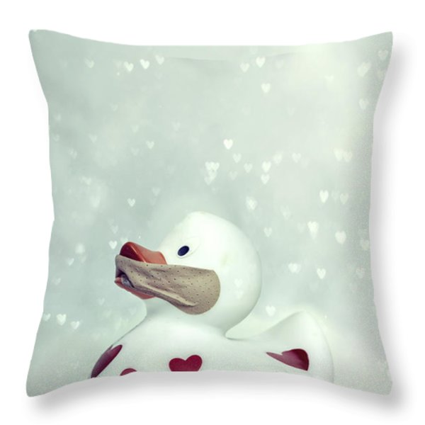 A Shut Mouth Catches No Flies Throw Pillow by Joana Kruse