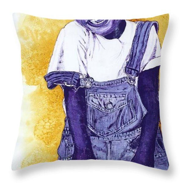 A Smile for You from Haiti Throw Pillow by Margaret Bobb