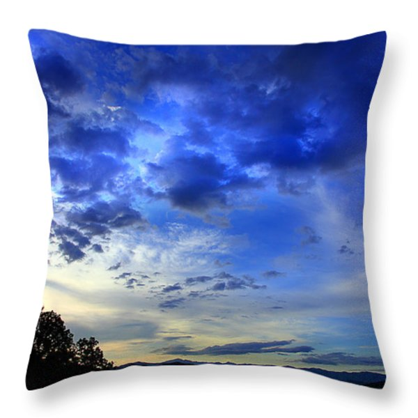 A Smoky Mountain Dawn Throw Pillow by Michael Eingle