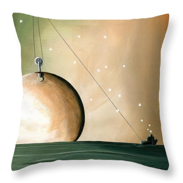 A Solar System Throw Pillow by Cindy Thornton