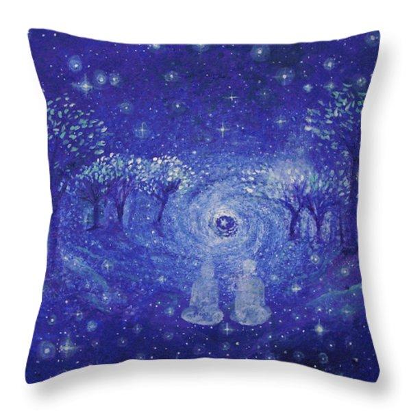 A Star Night Throw Pillow by Ashleigh Dyan Bayer